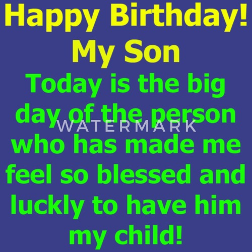 Happy Birthday My Son Perfect Gift From Mom Men S Premium T Shirt To Ideas