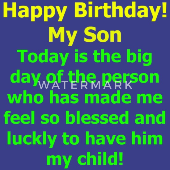 Happy Birthday My Son! Perfect Gift From Mom Men's Premium T