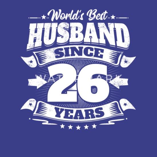 Wedding Day 26th Anniversary Gift Husband Hubby Men S Premium T