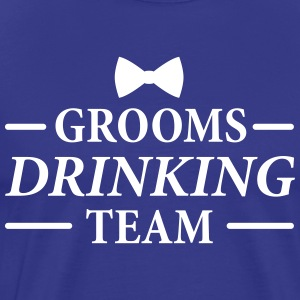 Groom's Drinking Team Bachelor party t-shirts - Men's Premium T-Shirt