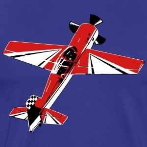 Acrobatic 3D Airplane - Men's Premium T-Shirt