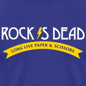 Rock Is Dead! Long Live Paper And Scissors. - Men's Premium T-Shirt