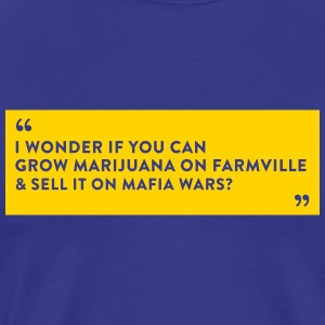 Farmville Vs. Mafia Wars - Men's Premium T-Shirt