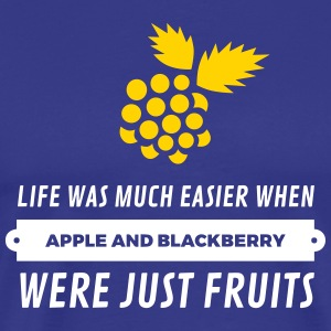 When Cell Phones Were Just Fruits! - Men's Premium T-Shirt