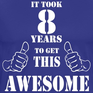 8th Birthday Get Awesome T Shirt Made in 2009 - Men's Premium T-Shirt