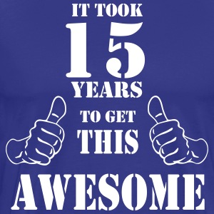 15th Birthday Get Awesome T Shirt Made in 2002 - Men's Premium T-Shirt
