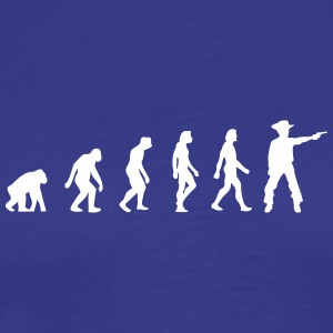 The Evolution Of Cowboys - Men's Premium T-Shirt