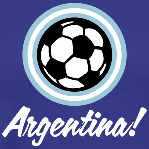 Argentina Football Emblem - Men's Premium T-Shirt