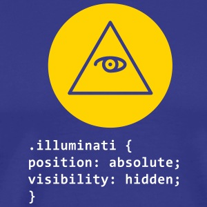 CSS Pun: Illuminati - Men's Premium T-Shirt