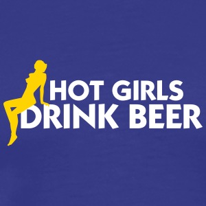 Hot Girls Drink Beer! - Men's Premium T-Shirt
