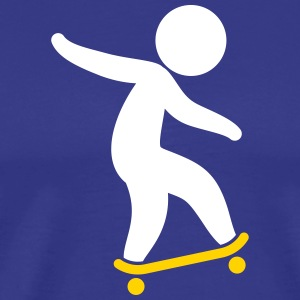 A Skateboarder Doing Tricks - Men's Premium T-Shirt