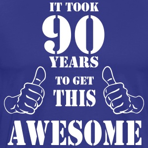 90th Birthday Get Awesome T Shirt Made in 1927 - Men's Premium T-Shirt