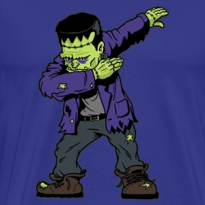 Dabbing Frankenstein Funny Halloween Monsters - Men's Premium T-Shirt