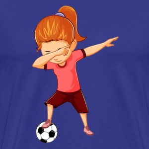 Soccer Girls Funny Dabbing Dance Soccer Ball - Men's Premium T-Shirt