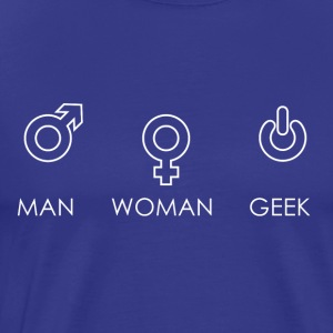 MAN WOMAN GEEK - Men's Premium T-Shirt