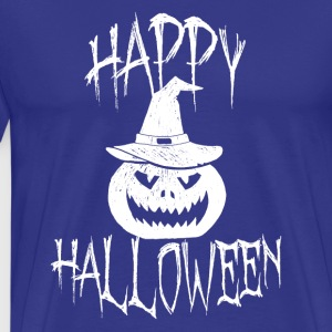 Funny Happy Halloween Holiday 2017 Pumpkin Tee - Men's Premium T-Shirt