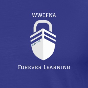 WWCFNA Forever learning white - Men's Premium T-Shirt