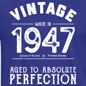 Funny 70th Birthday Gift: Vintage Made in 1947 - Men's Premium T-Shirt
