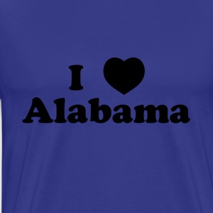 alabama heart - Men's Premium T-Shirt