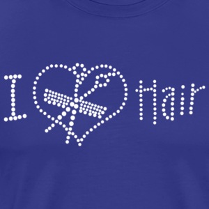 I Love Hair Rhinestone - Men's Premium T-Shirt