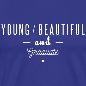 young beautiful graduate - Men's Premium T-Shirt