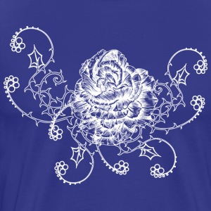 Vintage flower with thron - Men's Premium T-Shirt