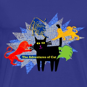 Cat Suffers Demons - Men's Premium T-Shirt