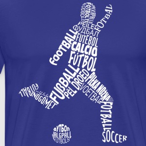 Soccer Player In Different Languages - Men's Premium T-Shirt