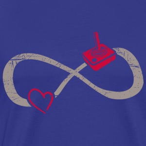 Infinite Love ∞ I Love Gaming ∞ Joystick - Men's Premium T-Shirt