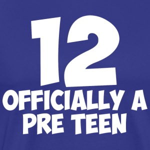 Officially a Pre Teen 12 Year Old Adolescent - Men's Premium T-Shirt