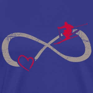 Infinite Love ∞ I Love Skiing Winter ∞ Mountain - Men's Premium T-Shirt