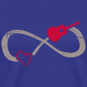 Infinite Love ∞ I Love Guitar Music ∞ Acoustic - Men's Premium T-Shirt