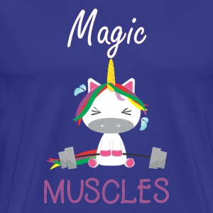 Magic Muscles - Funny unicorn gym T-shirt - Men's Premium T-Shirt