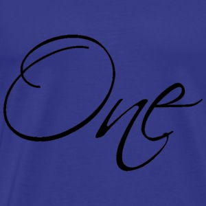 one - Men's Premium T-Shirt