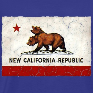 New California Republic Flag - Men's Premium T-Shirt