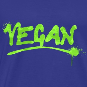 Vegan Paint Veganism Vegans Vegetarian - Men's Premium T-Shirt
