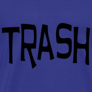 Trash print black - Men's Premium T-Shirt