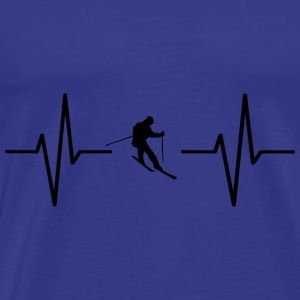 My heart beats for skiing! gift - Men's Premium T-Shirt