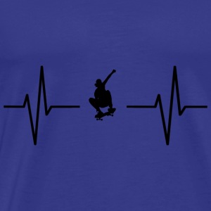 My heart beats for skateboards! gift - Men's Premium T-Shirt
