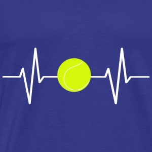 My heart beats for tennis! gift - Men's Premium T-Shirt