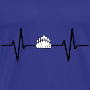 My heart beats for bowling! gift - Men's Premium T-Shirt