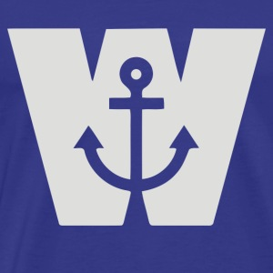 Wanker W Anchor - Men's Premium T-Shirt