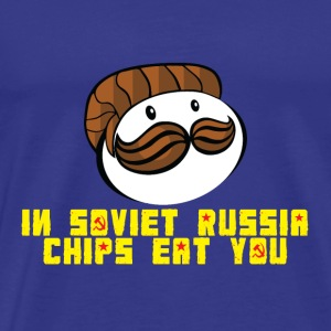 Chips parody in soviet Russia - Men's Premium T-Shirt