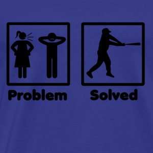 problem solved baseball homerun base 2 - Men's Premium T-Shirt