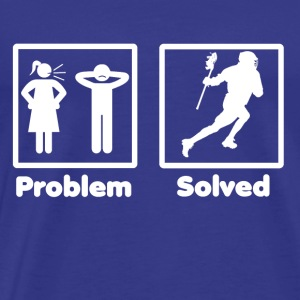 problem solved lacrosse 2 - Men's Premium T-Shirt
