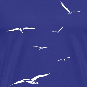 Seagulls flock of bird fly awayy flying nice gift - Men's Premium T-Shirt