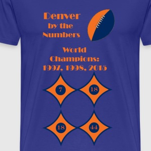 By The Numbers-Denver Football - Men's Premium T-Shirt