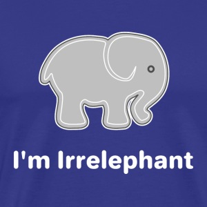 Irrelephant (white) - Men's Premium T-Shirt