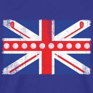 Vintage UK Flag Golf Balls + Clubs  Cool Golf - Men's Premium T-Shirt