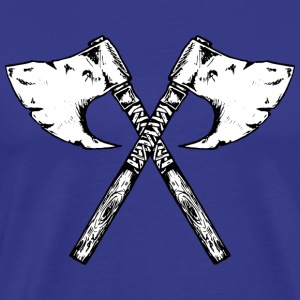 the viking axe - Men's Premium T-Shirt